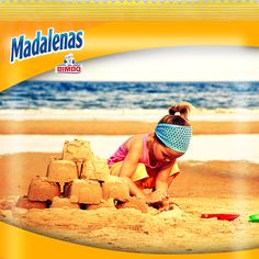 Las Madalenas saben a… mi primer castillo de arena.  ¿Recuerdas tus primeras vacaciones?