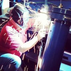 Good morning, here in the shop Tim is fixing a few spots on our 1800 PSIG hydrostatic pressure testing tank. @weldernation  #pressuretest #arcwelding #gtaw #weldporn #pressurevessel #welding #manufacturing #metalwork #tech #workshop #instamachinist #maker #psig #hydrostatic #tank #testing #factoryfocus #behindthesceens