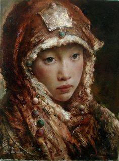 Tang Wei Min, pintor de oleo de China. Ruta de la Seda XVII