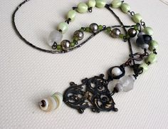 """""""Soliloquy"""" necklace by Rebecca Sower, via Flickr"""