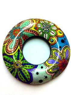 Colored transfer donut :) by Veronika Sturdy
