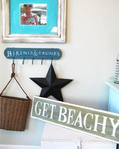 Coastal Decor, Beach, Nautical Decor, DIY Decorating, Crafts, Shopping | Completely Coastal Blog: How to Make a Wooden Sign with Tracing Paper
