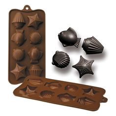 Chocolate o bombón Mar Chocolate Molds, How To Make Chocolate, Chocolates, Candy Molds Silicone, Cake Decorating Tools, Mold Making, Cookie Cutters, Craft Supplies, Crafts