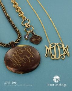 Monogram and engraved jewelry at Jackie's Embroidery.