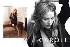 Sienna Miller for CAROLL, Fall Winter 2014 Ad Campaign