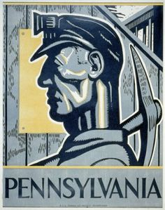 Posoff, Isadore,, artist.  Pennsylvania  Pennsylvania : WPA Federal Art Project, [1936 or 1937]  1 print (poster)