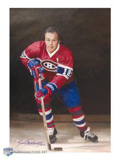Yvan Cournoyer : D'une rapidité incroyable et capable de tourner sur une pièce de 10 sous, le Roadrunner possédait des jambes si musclées qu'il pouvait à peine les croiser. Son puissant lancer des poignets, développé au cours de son enfance en se pratiquant avec de lourdes rondelles de métal, était l'un des plus redoutables de la ligue. Ces habiletés faisaient de Cournoyer l'un des attaquants les plus craints du hockey. Hockey Games, Hockey Players, Ice Hockey, Montreal Canadiens, Montreal Hockey, Ken Dryden, Hockey Pictures, Good Old Times, Nfl Fans