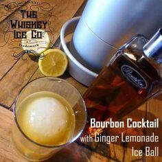 Bourbon Cocktail with Ginger Lemonade Ice Ball