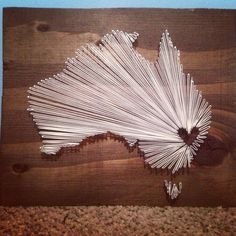 Australia- heart in central australia instead- Home is where the heart is!