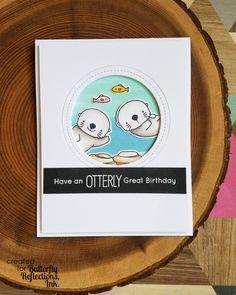 Hi Everyone! Happy Saturday! I love animals, I love animal stamps and I love Otterly Love You stamp set from My Favorite Things. Toda...