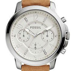 Gwynn Chronograph Light Brown Leather Watch