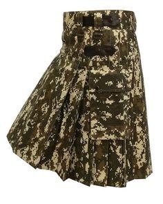 Urban Camouflage leather straps Men utility Kilt fashion Sports 100/% Cotton