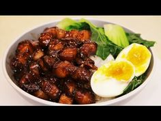 MELT IN YOUR MOUTH Chinese Braised Pork Belly Recipe (Lu Rou Fan / 卤肉饭) - YouTube