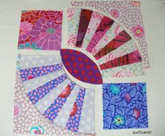Quiltsalott: Curved piecing part 2