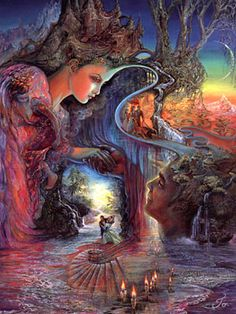 Paintings by Josephine Wall   Always reminds me of my brother Saffa.
