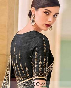 Buy Online New and Latest Saree Designs of 2020 for Women Black Blouse Designs, Hand Work Blouse Design, Simple Blouse Designs, Stylish Blouse Design, Wedding Saree Blouse Designs, Sleeves Designs For Dresses, Sarees, India Fashion, Kolkata