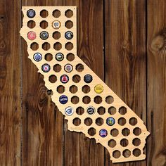 Fill An Indiana Beer Cap Map With Bottle Caps From Hoosier Breweries - Indiana beer cap map