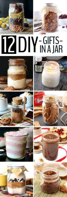 Diy Crafts Ideas : 12 DIY Holiday Gifts In A Jar