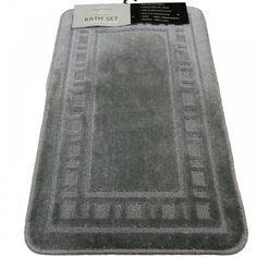 $20.00 SILVER LUXURY BATHROOM BATH MAT PEDESTAL SET  From PCJ SUPPLIES   Get it here: http://astore.amazon.com/ffiilliipp-20/detail/B005339DWU/180-9213149-5947358