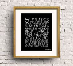 Typography Print Quote Print Book Lover Art Print by SpoonLily