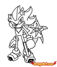 shadow the hedgehog coloring pages paint shadow the hedgehog by