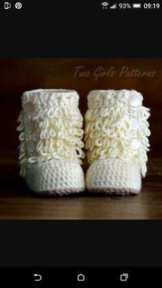 de81ca4af Las 67 mejores imágenes de Zapatos para bebés a crochet