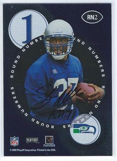 2000 Contenders Shaun Alexander Thomas Jones Dual Auto Rookie Autograph RC NFL $29.99 Free Shipping Seahawks Redskins