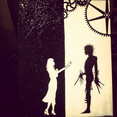Edward scissor hands painting