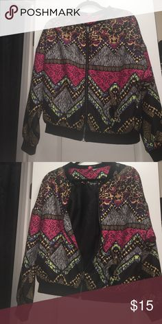 Bomb Bomber Multicolor bomber jacket. Good condition Divided Jackets & Coats