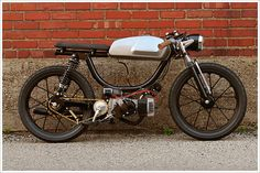 puch cafe racer moped.