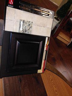 Kitchen tile backsplash-Brixton Bone with Umber accent, Santa Cecilia Light counters, Scottsdale Maple Expresso cabinets, and Hickory Deep Java hardwood floors