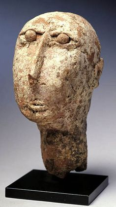 Ethiopia, Axum - 4th to 7th century Head, Falasha Artist (terra cotta ceramic)
