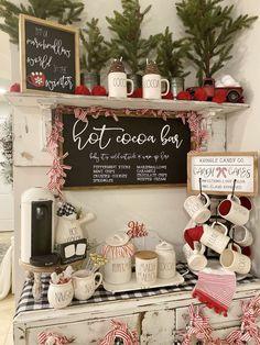 Christmas Hot Chocolate, Christmas Coffee, Christmas Signs, Xmas, Christmas Kitchen Decorations, Coffee Decorations, Prim Christmas, Etsy Christmas, Holiday Decor