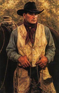 Cowboy in Colored Pencil.