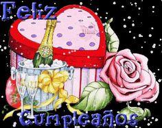 Los mejores gifs de cumpleaños para facebook champaña
