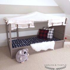IKEA Kura Bed Hack: DIY Boy Canopy Bed