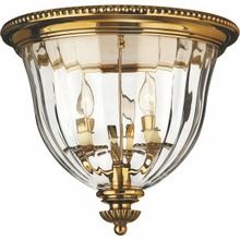 Hinkley Three-Light Flush Mount Light Fixture