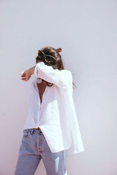 01a95b4005ef classic white button up with light wash jeans