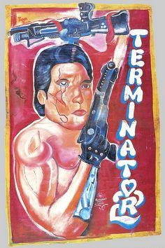 Terminator, Ghana's handmade movie poster industry