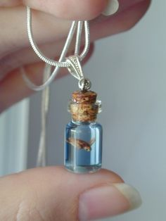 Sea turtle in a bottle necklace