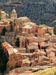 The Spanish town of Albarracin, a picturesque town surrounded by stony hills.