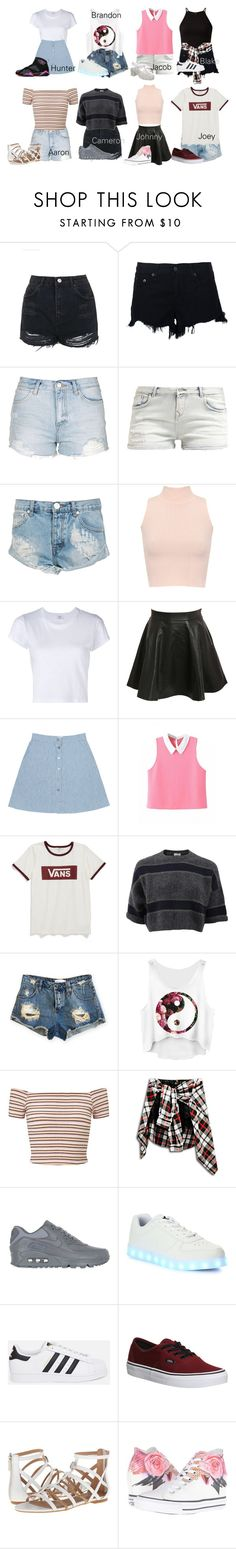 """Date outfit: Magcon"" by queencori ❤ liked on Polyvore featuring Topshop, rag & bone, One Teaspoon, WearAll, RE/DONE, Pilot, Vans, Brunello Cucinelli, Miss Selfridge and NIKE"