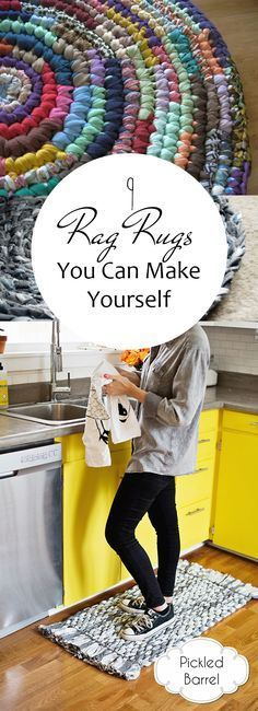 9 Rag Rugs You Can Make Yourself| Rag Rug, Rag Rug DIY, Rag Rug Tutorial, Rag Rugs How to Make A, Crafts, Crafts to Make and Sell, DIY Home Decor on a Budget #CraftstoMakeandSell #RagRugDIY #RagRugTutorial #diyragrugprojects