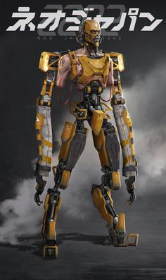 Neo Japan 2202 - Borei, Johnson Ting on ArtStation at… Rpg Cyberpunk, Cyberpunk Character, Neo Japan 2202, Character Concept, Character Art, Robot Concept Art, Photoshop, Futuristic Art, Ex Machina