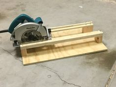 "A simple crosscutting jig for use with a circular saw. It's easy to build, and consists of just one 2' by 2' by 1/2"" piece of plywood and a small par..."