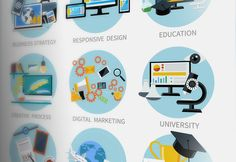 Icons Set Banners for Business by robuart on Creative Market