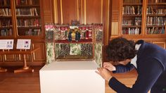 Students work on historical objects as part of the Postgraduate Diploma Conservation of Furniture and Related Objects. Recently this included the Toll House created by Vivien Greene put on display for the first time at our annual house opening. The Toll House has a surreal interior, inspired by Monkton House and a meeting with Edward James.