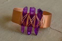 Melodi - Recycled Copper Quartz Stick Cuff