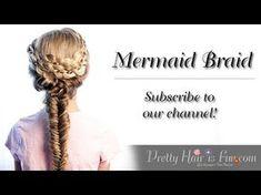 How to do a Mermaid Fishtail Braid   Pretty Hair is Fun - YouTubeBraid Hairstyles, Braids, braids tutorial, braids for short hair, braids for short hair tutorial, braids for long hair, braids for long hair tutorials...