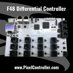 Can drive up to 16384 pixels. 48 Differential Outputs no local ports. Can connect up to 12 Falcon Differential Receivers. Outdoor Christmas, Christmas Lights, Christmas Light Controller, Animal Crossing, Connect, Led, Christmas Fairy Lights